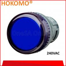 HOKOMO BLUE PILOT LAMP, A240, (HPL22N-B-A240)