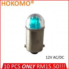 HOKOMO BA9S LED BULB, 12V AC/DC ~ BLUE, (HQ-LED12AC-B)