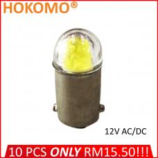 HOKOMO BA9S LED BULB, 12V AC/DC ~ YELLOW, (HQ-LED12AC-Y)