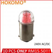 HOKOMO BA9S LED BULB, 240V AC/DC ~ RED, (HQ-LED240AC-R)