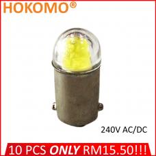 HOKOMO BA9S LED BULB, 240V AC/DC ~ YELLOW, (HQ-LED240AC-Y)
