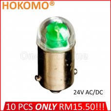 HOKOMO BA9S LED BULB, 24V AC/DC ~ GREEN, (HQ-LED24AC-G)