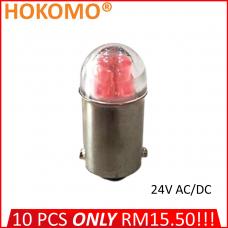 HOKOMO BA9S LED BULB, 24V AC/DC ~ RED, (HQ-LED24AC-R)