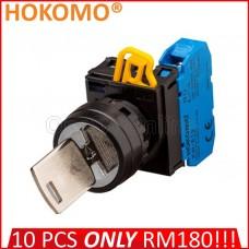 HOKOMO KEY-OPERATED SWITCHES. 90° ~ 2-POSITION ~ 1NO, (KW1K-2AE10)