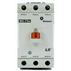 LS AC Contactor (Metasol),  37KW/50HP 75A 1NO+1NC