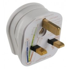MK Safety Plug fitted with 13A Fuse (White Color)