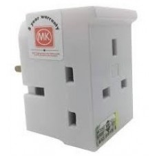 MK Plug Adaptors 13A with 3 x 13A Socket Outlet Fused 13A