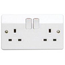 MK 2 Gang 13A SP Socket Outlet (Switched)
