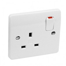 MK 1 Gang 13A SP Socket Outlet (Switched )