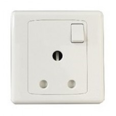 MK 1 Gang 15A SP Socket Outlet (Switched)