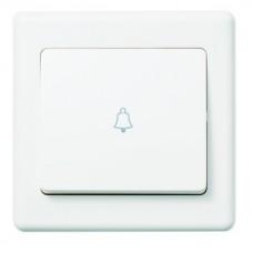 MK 1 Gang 10A Wide Rocker Push Switch (bell symbol)