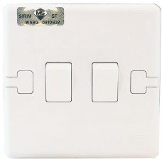 MK 2 Gang 10AX SP Switch (1 Way)