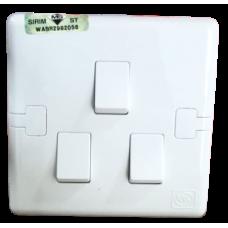 MK 3 Gang 10AX SP Switch (1 Way)