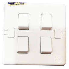 MK 4 Gang 10AX SP Switch ( 1Way )