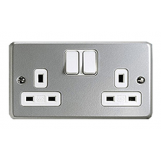 MK 2 Gang 13A Socket Outlet (Switched)