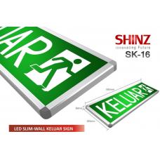 Shinz LED Slim-Wall Keluar Sign